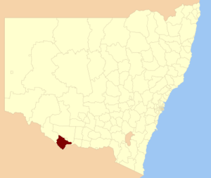 Murray Shire - Location of the former shire in New South Wales