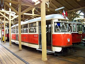 Trams in Prague - Historical Tatra T1 at Prague Transport Museum