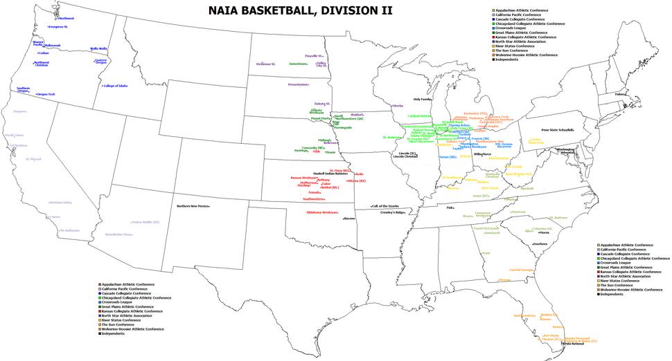 NAIA DII bb map