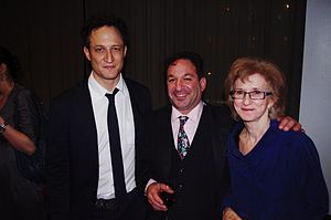 Carolyn D. Wright - John Reed, David Biespiel and Wright at the after party for the National Book Critics Circle Awards, March 2012
