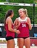 NCAA sand volleyball match at FSU, April 2014 (13944622094).jpg