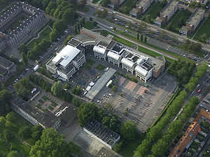 NHTV Breda University of Applied Sciences - NHTV campus as seen from the air.