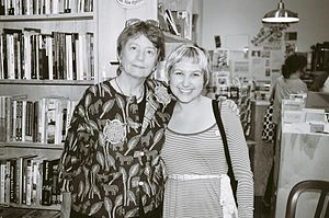 Cathlyn Platt Wilkerson - Cathy Wilkerson (left) with Meaghan Linick. Linick is an organizer with Students for a Democratic Society. (2007)