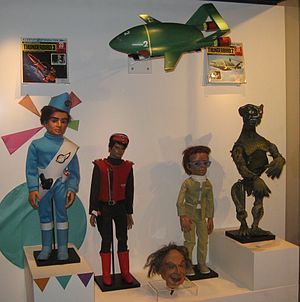 Gerry Anderson - A selection of Gerry Anderson marionettes seen at the National Media Museum, Bradford.