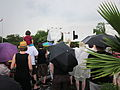 NOLA BP Oil Flood Protest brollys Stop the Oil Heal the Gulf.JPG