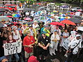NOLA BP Oil Flood Protest brollys musicians Spike 2.JPG