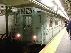 An R33S type New York City Subway car. Deutsch...