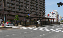 Nagasaki Electric Tramway station 23 Mori machi.png