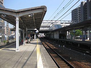 Nakamozu Station Railway and metro station in Sakai, Japan