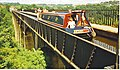 Narrowboat Crossing Pont-Cysyllte Aqueduct - geograph.org.uk - 251648.jpg