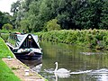 Narrowboat at Woolhampton Lock - geograph.org.uk - 27626.jpg
