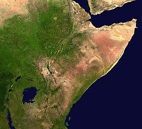 Image satellite de la Corne de l'Afrique.