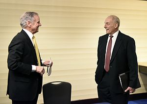 Henry McMaster - McMaster meeting with John F. Kelly, the United States Secretary of Homeland Security, in February 2017.