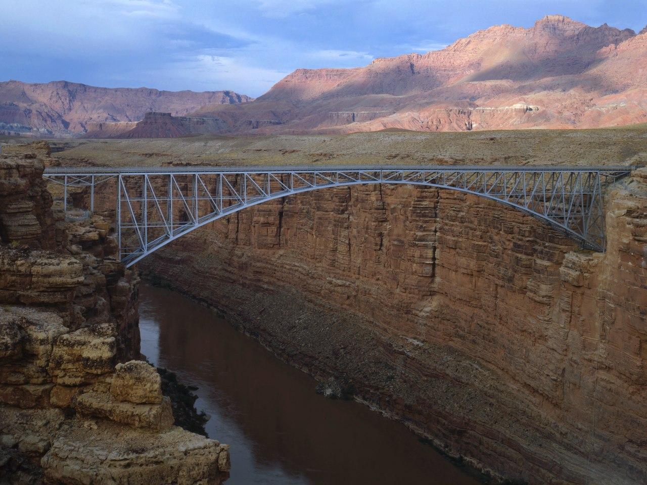 File Navajo Bridge Spanning Colorado River At Us Highway