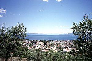 Nea Anchialos - Panoramic View from the hills surrounding Nea Anchialos