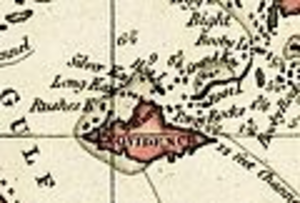 Raid on Nassau - Image: New Providence Island 1803 NP Ionly