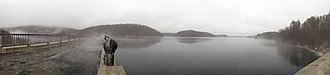 New Croton Reservoir - Image: New Croton reservoir and dam panorama