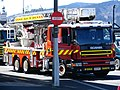 New Zealand Fire Service Scania P124 turntable ladder, Dunedin.JPG