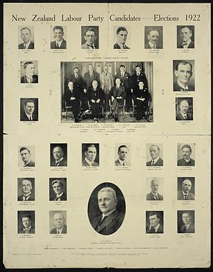 New Zealand general election, 1922 - Labour Party candidates in the 1922 election