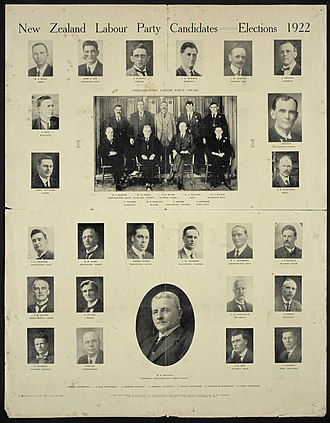 1922 New Zealand general election - Labour Party candidates in the 1922 election