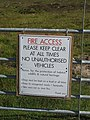 New sign on the gate - geograph.org.uk - 1352620.jpg