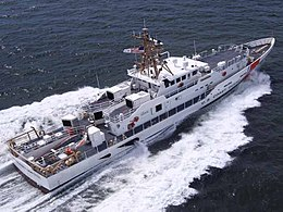 Newly delivered USCGC Charles Sexton, underway