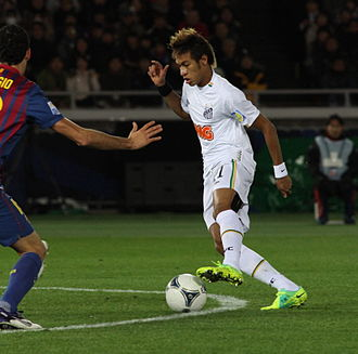 Neymar - Neymar playing for Santos against Barcelona in the final of the 2011 FIFA Club World Cup.