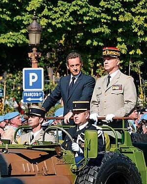 Jean-Louis Georgelin - Jean-Louis Georgelin and Nicolas Sarkozy