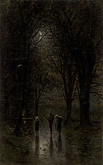 Night Travellers at a Cross