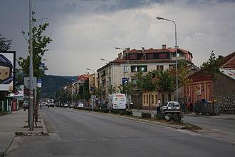 Nikšić - A street in Nikšić