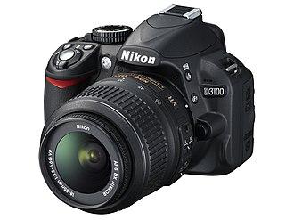 Nikon D3100 - Nikon D3100 with the Nikon 18-55mm zoom lens.