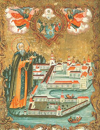 Stolobny Island - Nil Stolobensky icon, 1771