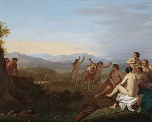 Satyrs Spying on Nymphs
