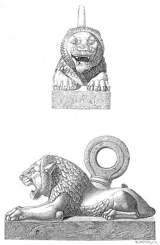 Nineveh - Bronze lion from Nineveh.