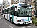 Nishitetsu Bus 7728 at Meinohama Station.jpg