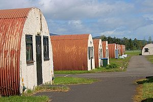 Nissen hut - Nissen Huts, Cultybraggan Camp, close to Comrie, in west Perthshire