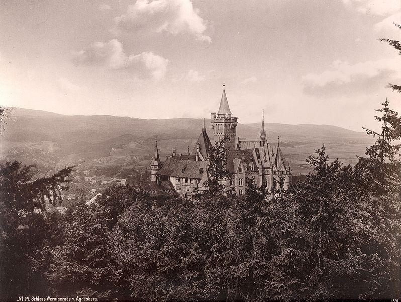 File No 14 Schloss Wernigerode Vom Agnesberg 1891 Jpg Wikimedia
