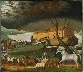 Noah's Ark silver coins - Noah's Ark (1846) by American folk painter Edward Hicks.