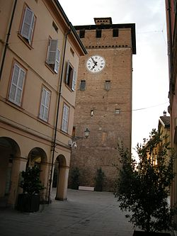 Modenesi tower in town centre