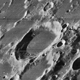 Dubyago (crater) - Oblique Lunar Orbiter 4 image