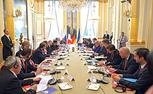 Normandy format talks in Paris (October 2015) 02.jpg