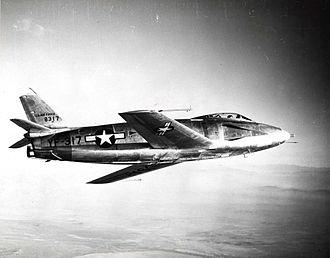 North American YF-93 - The first YF-93 in flight