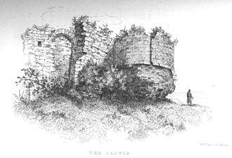 Northampton Castle - Northampton Castle bastion from Historical Memorials of Northampton by C. H. Hartshorne