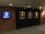"Norway's WW2 Resistance Museum, Oslo (Hjemmefrontmuseet). Paintings of ""Kings of Liberation"" Harald V, Haakon VII, Olav V by Ross Kolby 2015. Photo 2017-11-30 c.jpg"