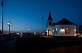 Norwegian Church at dusk, Cardiff Bay.jpg