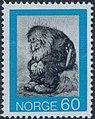 Norwegian stamp NK701 Kittelsen Troll.jpg
