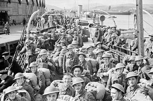 Operation Alphabet - British troops returning to the UK at Greenock in June 1940.