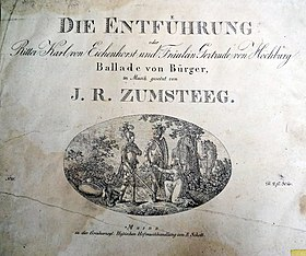 Titelblatt der Ballade Die Entführung, um 1830 (Quelle: Wikimedia)