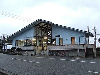 Noto-Ninomiya Station Railway station in Nakanoto, Ishikawa Prefecture, Japan