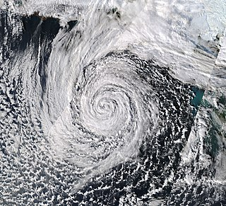 November 2014 Bering Sea cyclone